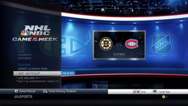 NHL 14 Screenshot #150 for Xbox 360