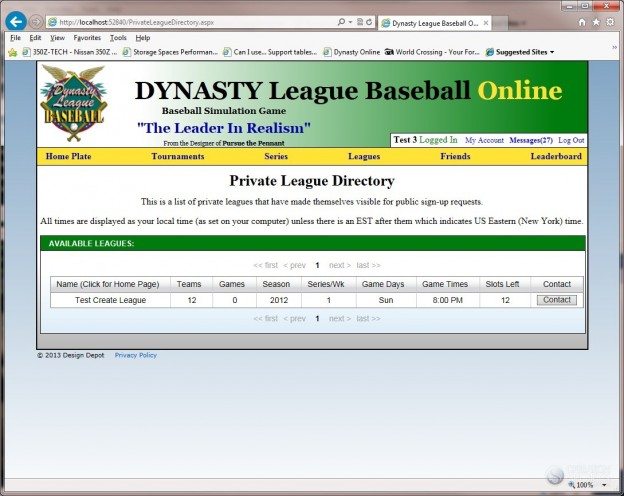 Dynasty League Baseball Online Screenshot #49 for PC