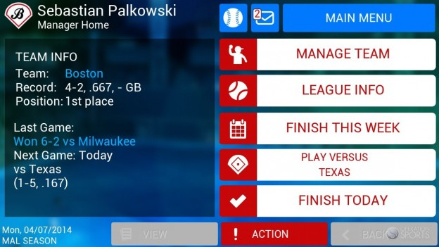 iOOTP Baseball 2014 Screenshot #1 for iPhone, iPad