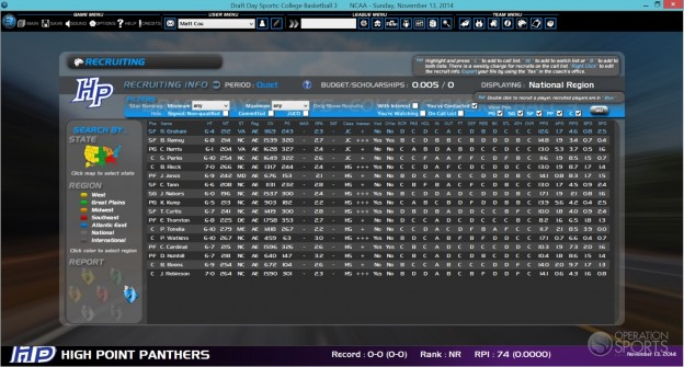 Draft Day Sports: College Basketball 3 Screenshot #2 for PC