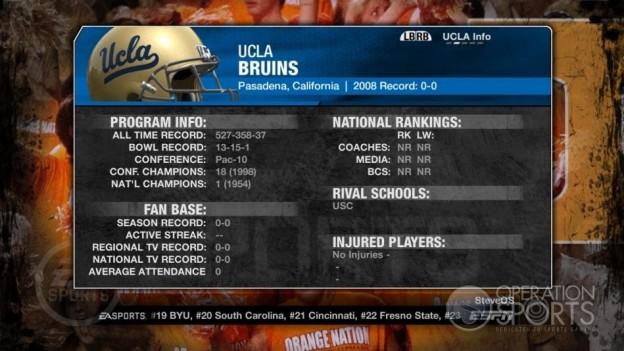 NCAA Football 09 Screenshot #245 for Xbox 360