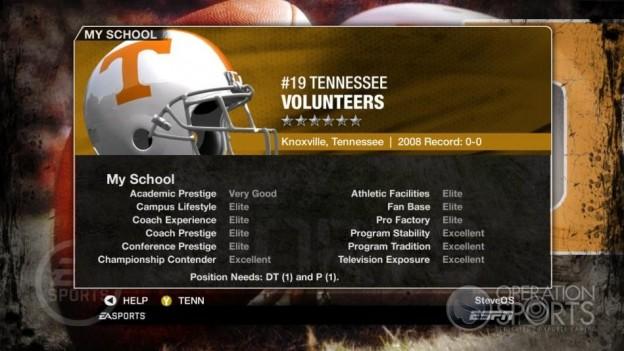 NCAA Football 09 Screenshot #258 for Xbox 360