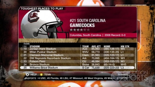 NCAA Football 09 Screenshot #276 for Xbox 360