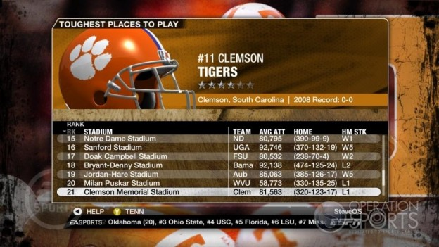 NCAA Football 09 Screenshot #277 for Xbox 360