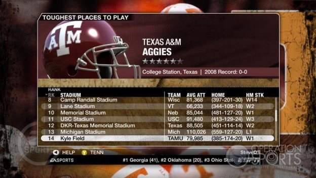 NCAA Football 09 Screenshot #278 for Xbox 360