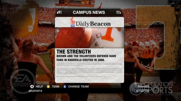 NCAA Football 09 Screenshot #285 for Xbox 360