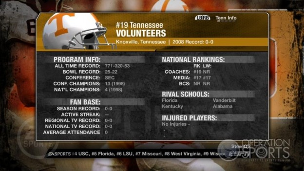NCAA Football 09 Screenshot #305 for Xbox 360