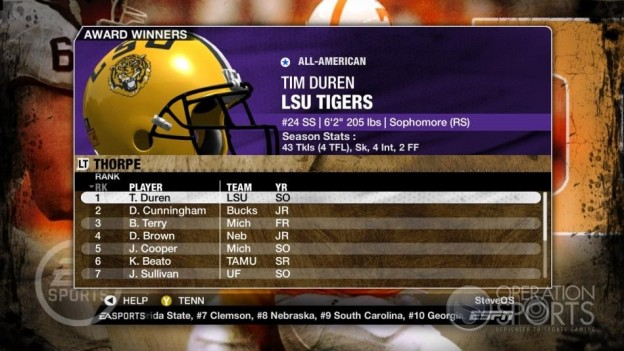 NCAA Football 09 Screenshot #317 for Xbox 360
