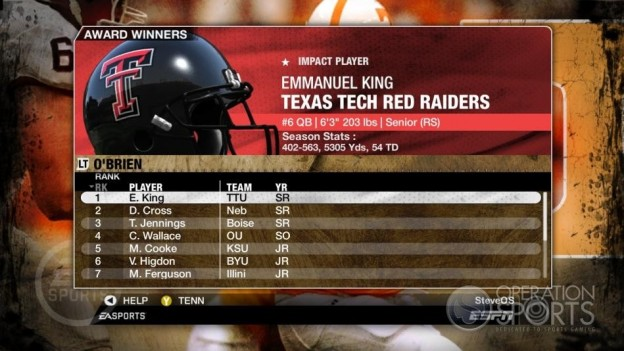 NCAA Football 09 Screenshot #325 for Xbox 360