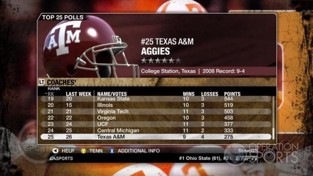 NCAA Football 09 Screenshot #333 for Xbox 360