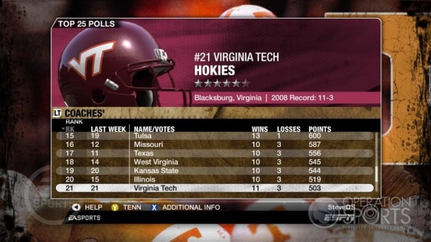 NCAA Football 09 Screenshot #334 for Xbox 360
