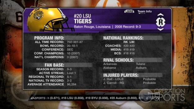 NCAA Football 09 Screenshot #349 for Xbox 360