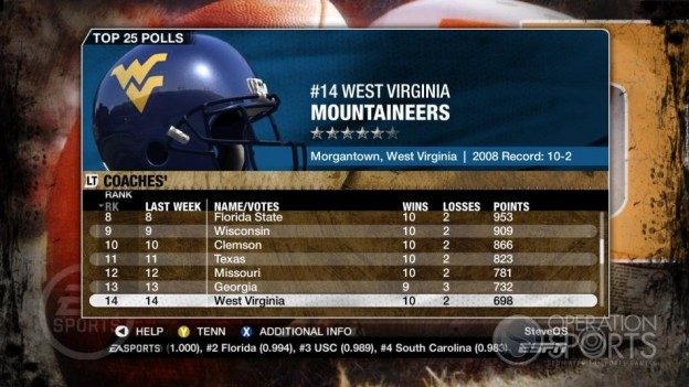 NCAA Football 09 Screenshot #353 for Xbox 360