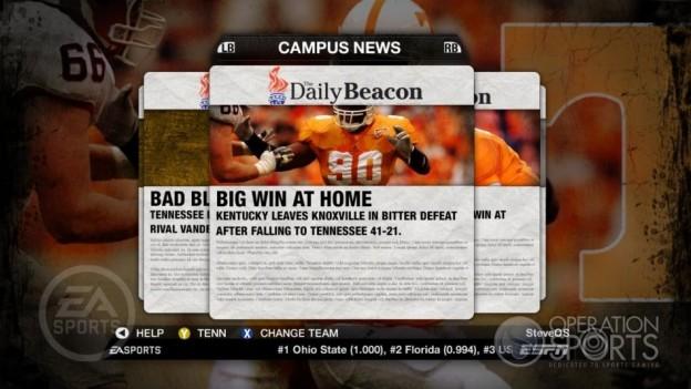 NCAA Football 09 Screenshot #358 for Xbox 360