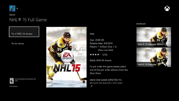 NHL 15 Screenshot #106 for Xbox One