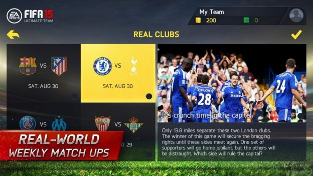FIFA 15 Ultimate Team Mobile Screenshot #5 for iPhone, iPad, Android, iOS