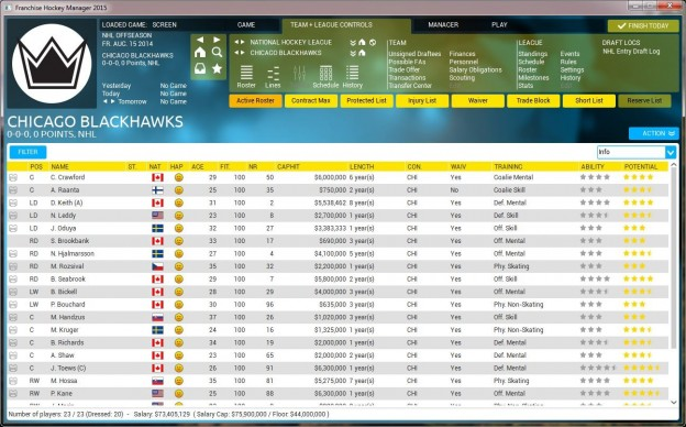 Franchise Hockey Manager 2 Screenshot #2 for PC