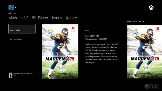 Madden NFL 15 Screenshot #343 for Xbox One