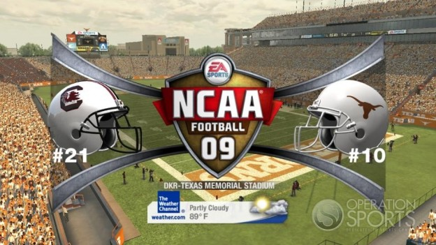 NCAA Football 09 Screenshot #483 for Xbox 360