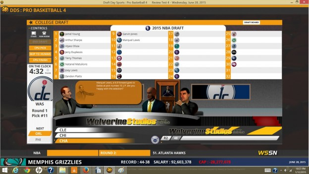 Draft Day Sports: Pro Basketball 4 Screenshot #1 for PC