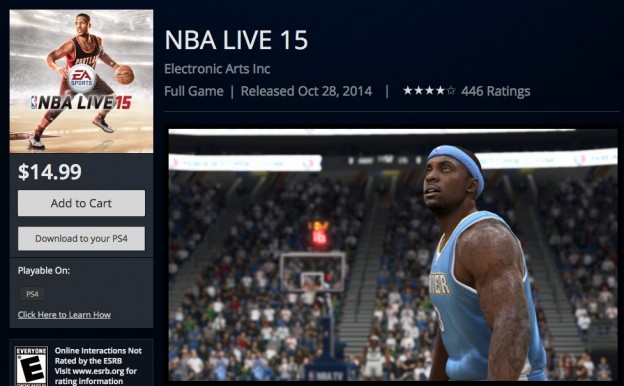 NBA Live 15 Screenshot #316 for PS4