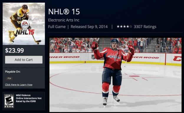 NHL 15 Screenshot #143 for PS4