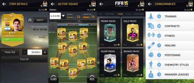 FIFA 15 Companion App Screenshot #1 for iOS