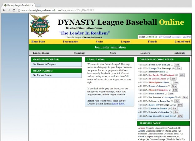 Dynasty League Baseball Online Screenshot #72 for PC