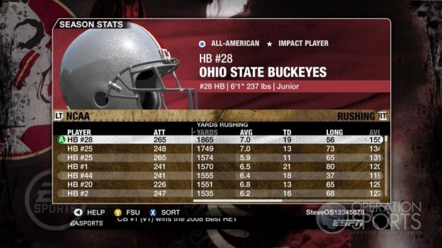 NCAA Football 09 Screenshot #691 for Xbox 360