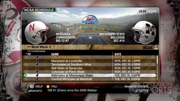 NCAA Football 09 Screenshot #862 for Xbox 360