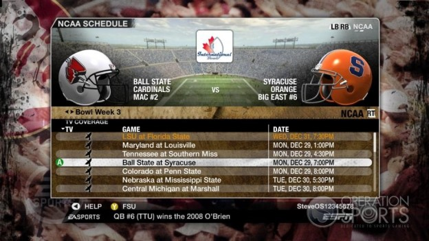 NCAA Football 09 Screenshot #864 for Xbox 360