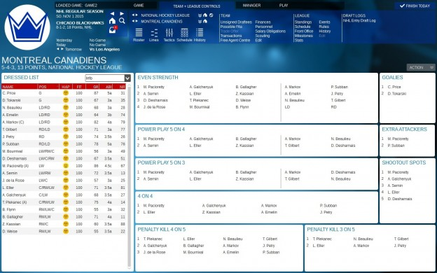 Franchise Hockey Manager 2 Screenshot #8 for PC