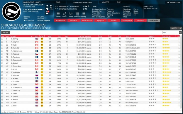 Franchise Hockey Manager 2 Screenshot #9 for PC