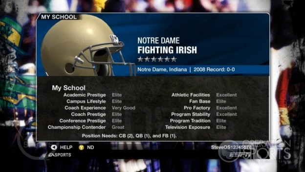 NCAA Football 09 Screenshot #1002 for Xbox 360