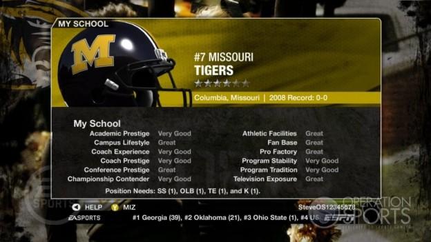 NCAA Football 09 Screenshot #1004 for Xbox 360