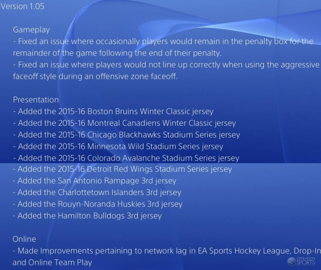 NHL 16 Screenshot #261 for PS4