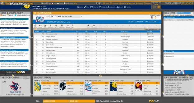 Draft Day Sports: Pro Basketball 2016 Screenshot #7 for PC
