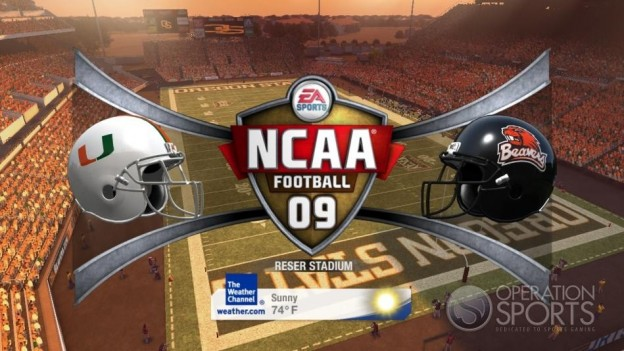 NCAA Football 09 Screenshot #1138 for Xbox 360
