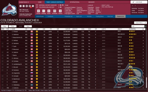 Franchise Hockey Manager 3 Screenshot #1 for PC