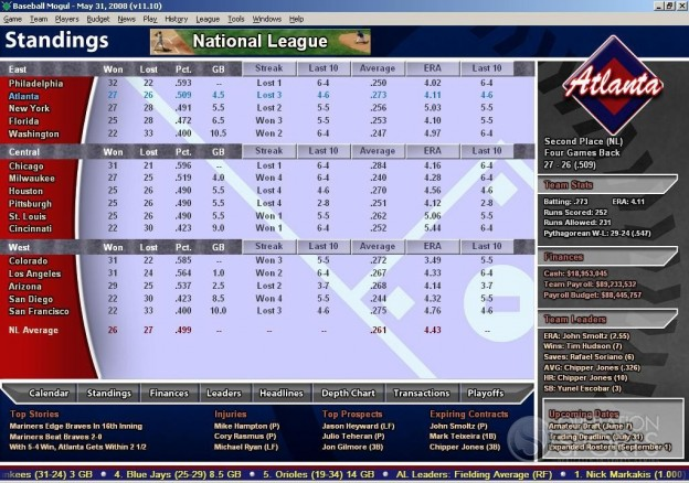 Baseball Mogul 2009 Screenshot #1 for PC