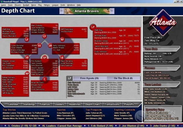 Baseball Mogul 2009 Screenshot #3 for PC
