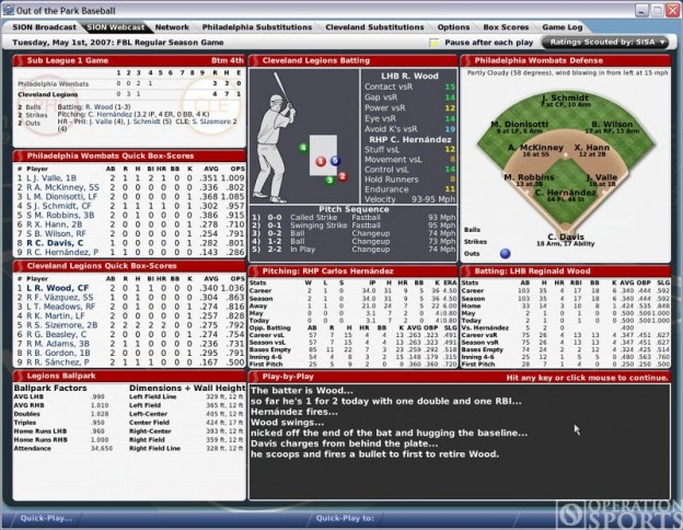 Out of the Park Baseball 2007 Screenshot #2 for PC
