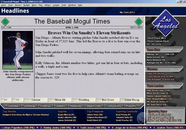 Baseball Mogul 2009 Screenshot #8 for PC