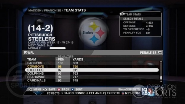 Madden NFL 09 Screenshot #64 for Xbox 360
