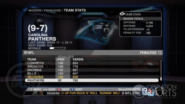 Madden NFL 09 Screenshot #182 for Xbox 360