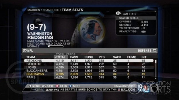 Madden NFL 09 Screenshot #223 for Xbox 360