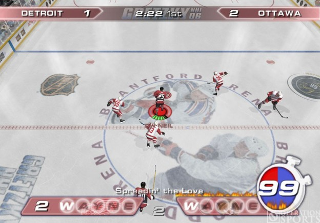 Gretzky NHL '06 Screenshot #1 for PS2