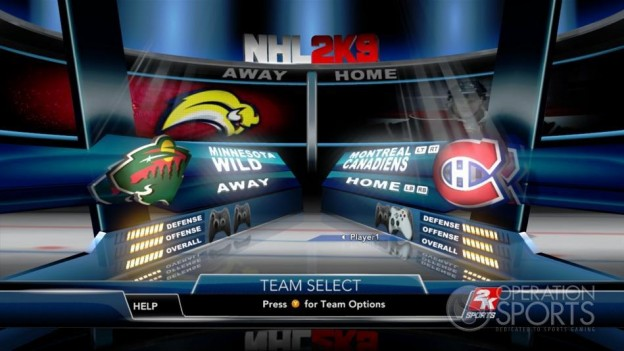 NHL 2K9 Screenshot #37 for Xbox 360