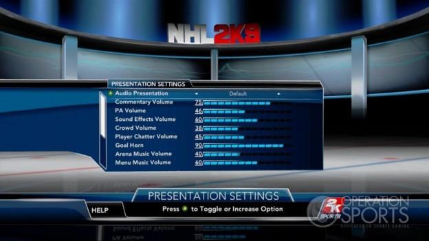 NHL 2K9 Screenshot #93 for Xbox 360