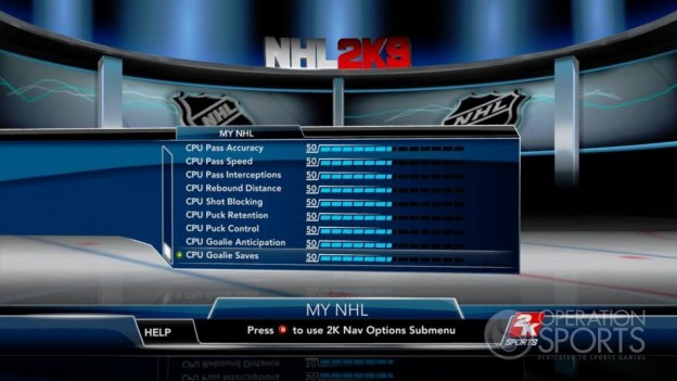 NHL 2K9 Screenshot #97 for Xbox 360